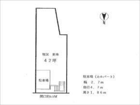 長岡京市奥海印寺谷田に新築一戸建て敷地図)