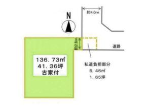 高槻市大塚町の売土地(敷地図)