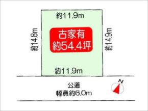 高槻市大和の売土地(敷地図)