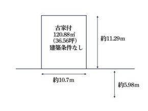 城陽市久世里ノ西の売土地(久津川駅まで徒歩9分