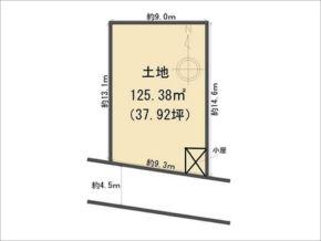 八幡市八幡長田の売土地(敷地図)
