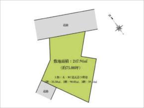 交野市妙見坂の売土地(星田駅まで徒歩19分)