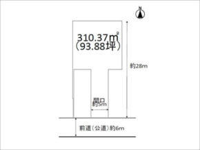 長岡京市調子の売土地(西山天王山駅まで徒歩5分)