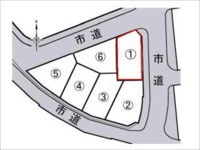 寝屋川市御幸西町の売土地(6区画分譲の1号地)