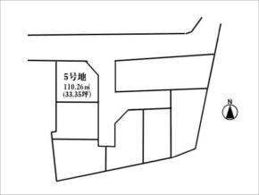 枚方市招提中町の売土地(10区画の分譲地の5号地)