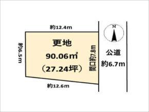 城陽市枇杷庄鹿背田の売土地(富野荘駅まで徒歩4分)