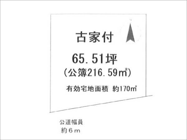 城陽市久世里ノ西の売土地(久津川駅まで徒歩11分)