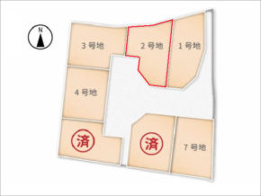 城陽市富野南垣内の売土地(分譲地の2号地)