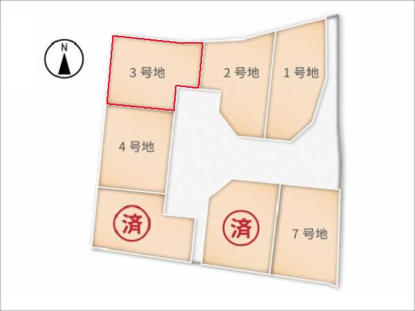 城陽市富野南垣内に新築一戸建て(分譲地の3号地)