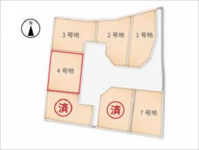 城陽市富野南垣内の売土地(分譲地の4号地)