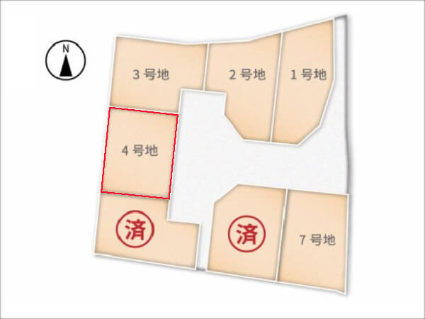 城陽市富野南垣内に新築一戸建て(分譲地の4号地)