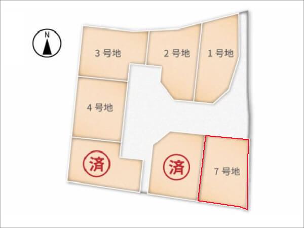 城陽市富野南垣内の売土地(分譲地の7号地)