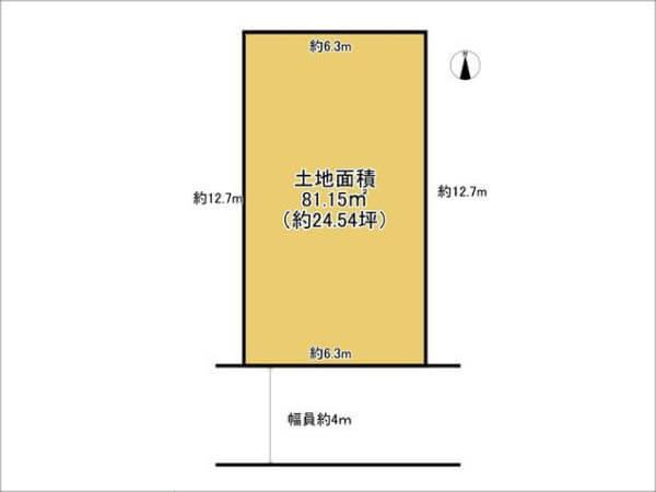 高槻市寿町に新築一戸建て(敷地図)