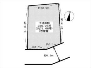 高槻市日吉台の売土地(敷地図)