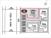 八幡市男山美桜の売土地(樟葉駅までバス乗車15分)