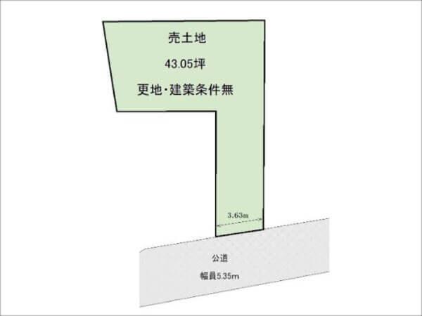 枚方市中宮西之町の売土地(宮之阪駅まで徒歩14分)