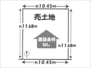 伏見区深草越後屋敷町の売土地(伏見駅まで徒歩11分)