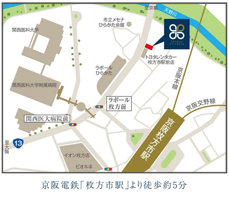 枚方市新町1丁目6番10号 匠建枚方の会社の地図