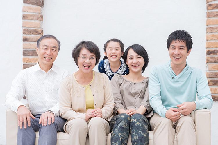 注文住宅を購入した三世代家族