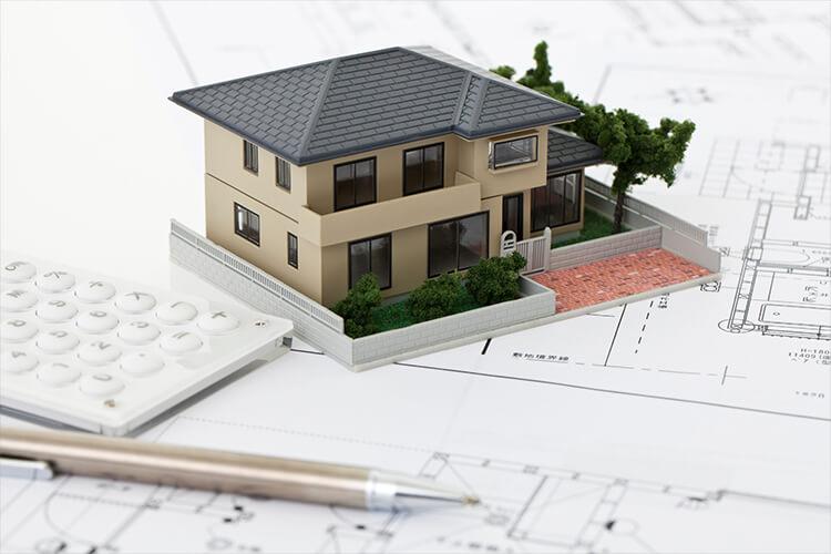 図面とミニチュアのモデルハウス