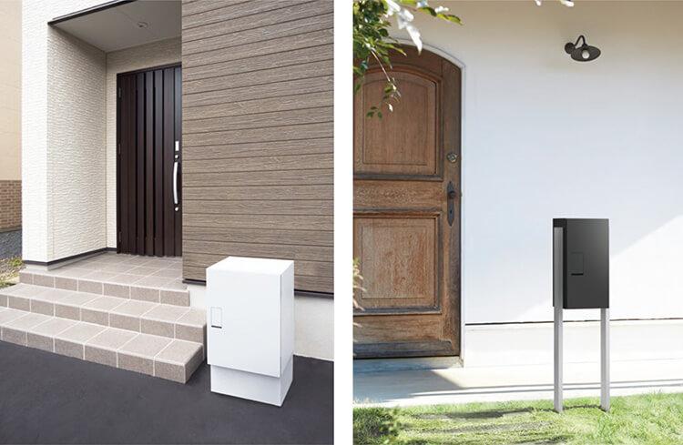 ナスタ「戸建住宅向け宅配ボックス」設置バリエーション