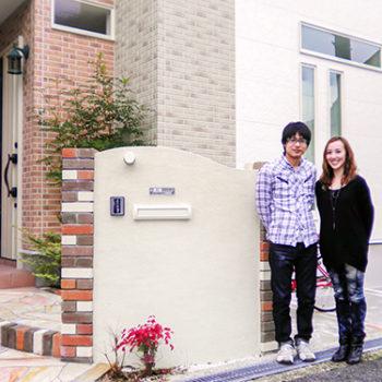 A様邸の玄関先 大阪の新築一戸建て(注文住宅)