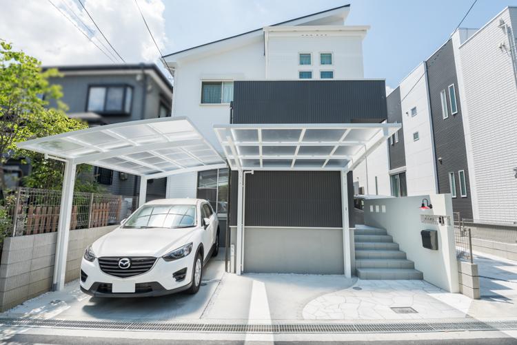 大阪I邸 – 3つの箱を組み合わせたシンプルモダン
