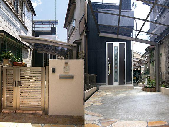 大阪A邸 – 洗濯物がよく乾く旗竿地の明るい家