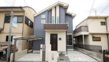 大阪の新築一戸建て(注文住宅)K様邸の爽やかな外観