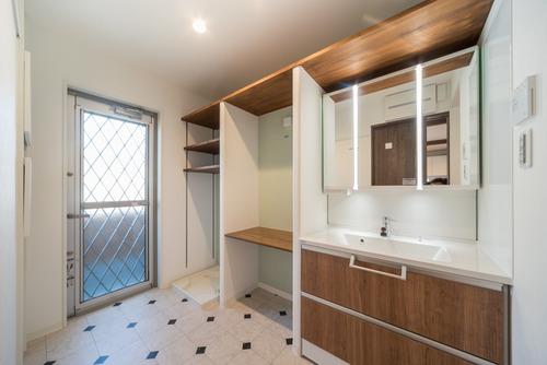 3帖の洗面所|三畳の広い洗面脱衣室のレイアウト