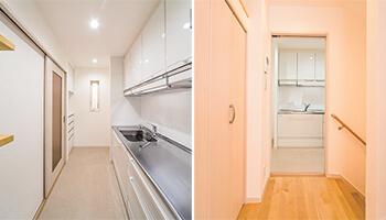 キッチンとホール