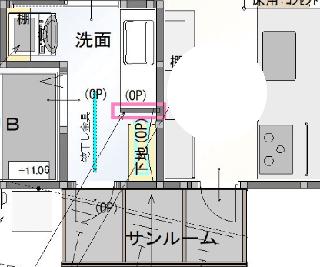 サンルームへは洗濯室とキッチンから出入りできます