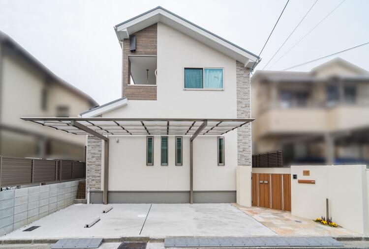 大阪のK様邸 注文住宅の外観