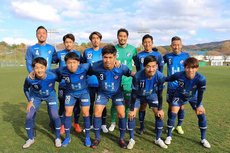FC TIAMO、試合前のイレブン(いわきFC戦)。全国地域サッカーチャンピオンズリーグ2019